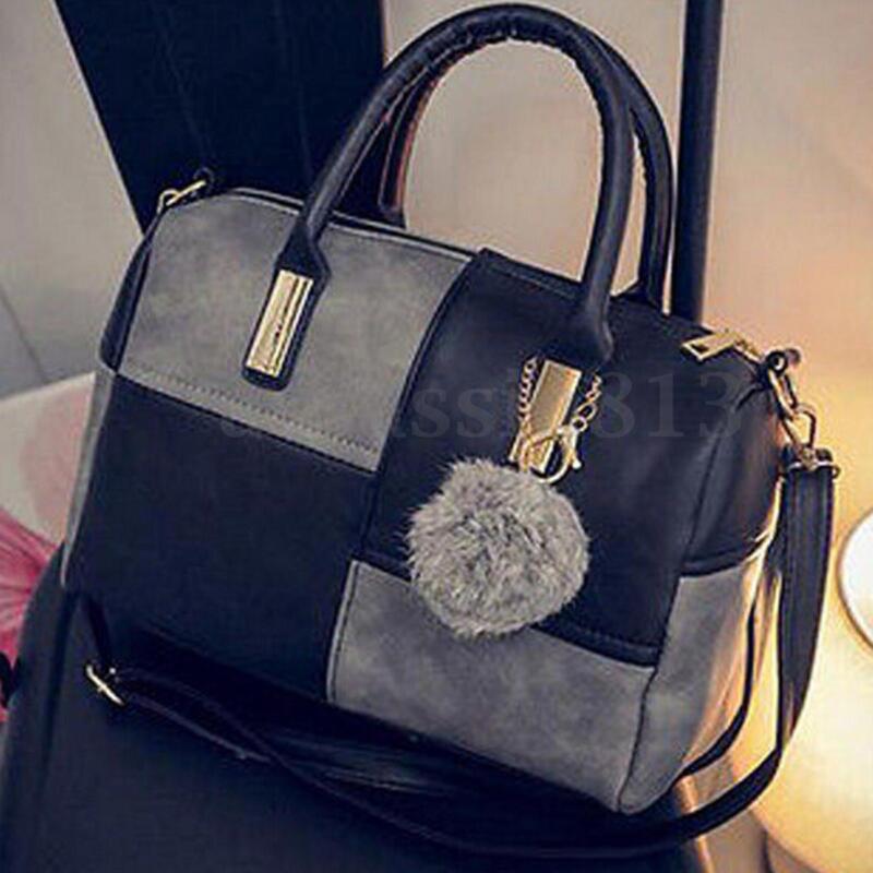 Bag - Black Women Leather Handbag Shoulder Purse Tote Satchel Messenger Crossbody Bag