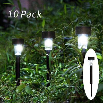 10PCS Solar Power Outdoor Path Light Spot Lamp Yard Garden Lawn Landscape White