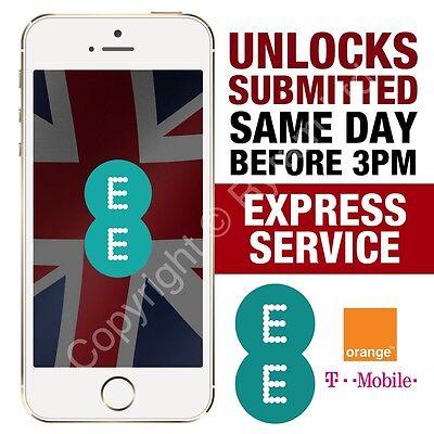 Apple iPhone 6S 6 5S 5C 5 SE Factory Unlock CODE Service EE ORANGE T-MOBILE UK