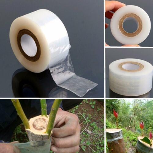 80m x 2cm Nursery Grafting Tape Roll Stretchable Self-adhesive Degradable White