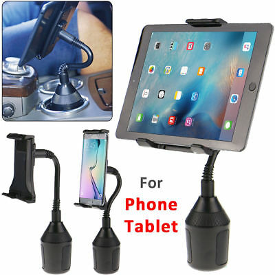 "Universal Car Mount Cup Holder Stand For Cell Phone iPad Mini 7""-10"" inch Tablet"