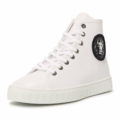 New Versace VERSUS Leather Sneaker Hi-top Size 40 IT 7 US
