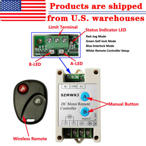 DC Motor Linear Actuator Controller Wireless Remote Control Kit Auto Car Lift IG