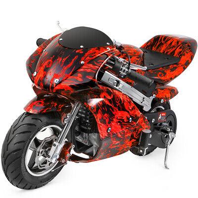 Mini Gas Power Pocket Bike Motorcycle 40CC 4-Stroke Ride on