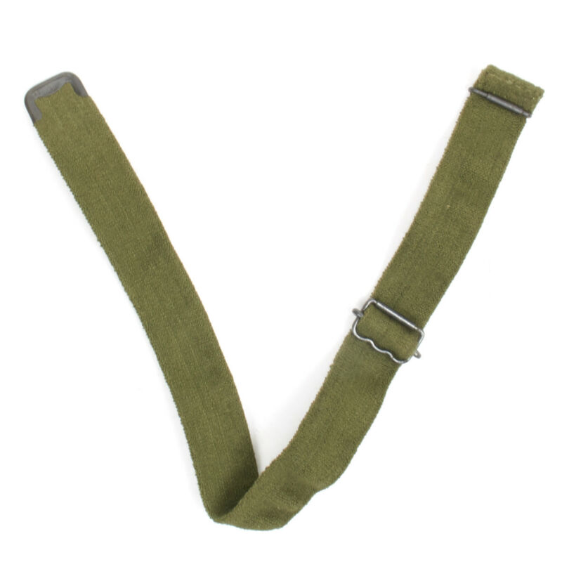 Original British Army Turtle and Brodie Helmet Elasticized Chin Strap- OD Green