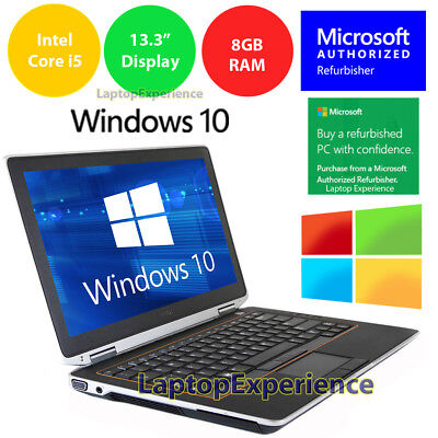 DELL LATITUDE E6320 LAPTOP WINDOWS 10 WIN DVD INTEL i5 2.5GHz 8GB...