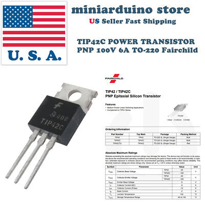10 X Tip42c Power Transistor Pnp 100v 6a To-220 Fairchild