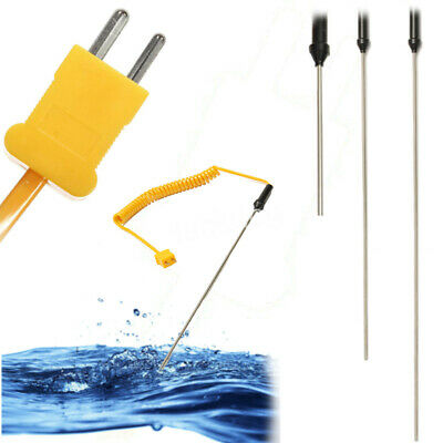 100200300mm K-type Thermocouple Probe Sensor Temperature Controller -50-1200c