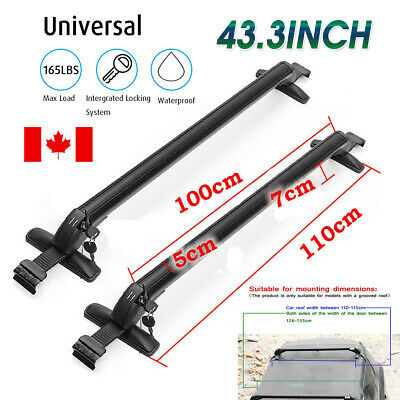 Universal Car Top Roof Rack Cross Bar Carrier Adjustable Door Frame Canada Sale