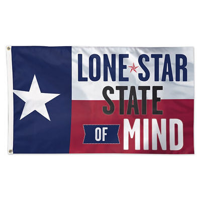 Lone Star State of Mind Flag with Grommets