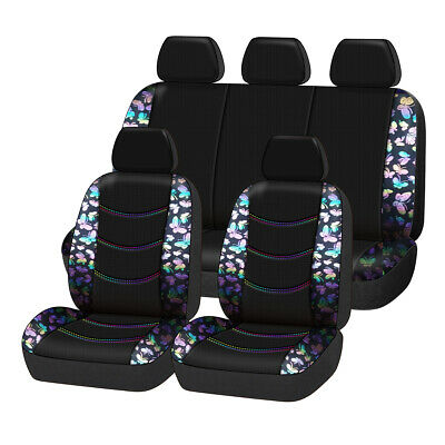 Universal Butterfly Car Seat Covers Full Set Car Seat Protector for Women...