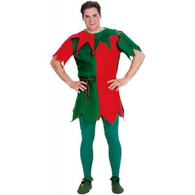 Funny Costumes For Adults (Elf Costume for Men Funny Christmas SantaCon Adult Fancy)