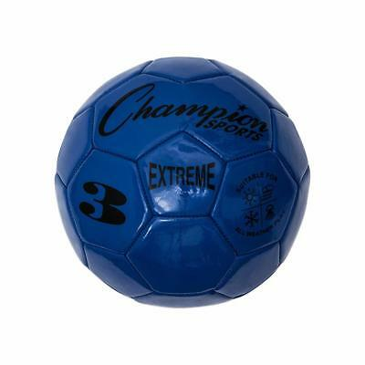 Champion Sports Extreme Soft Touch Butyl Bladder Soccer Game Ball, Size 3, Blue (Soft Soccer Ball)