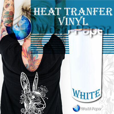 Iron On Heat Transfer Vinyl White Htv 12 X 15ft Roll