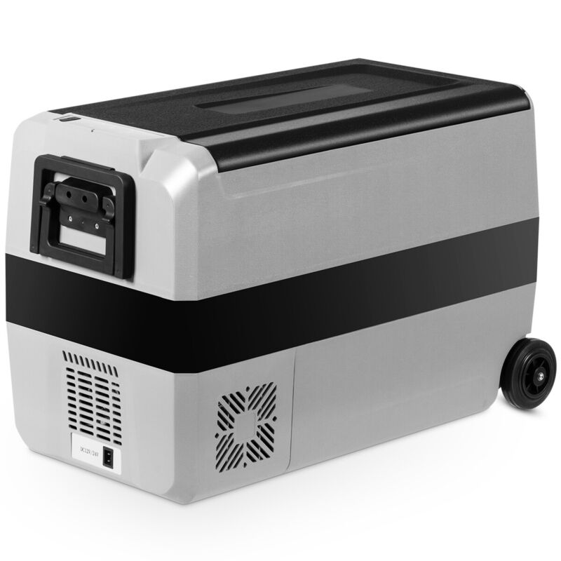 53 Quarts Portable Electric Car Cooler Refrigerator Freezer w/ Wheels Outing