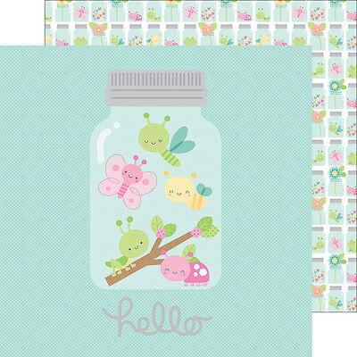 Scrapbooking Crafts 12x12 Paper Doodlebug DS CS Little Wonders Mason Jars Bugs - Little Mason Jars