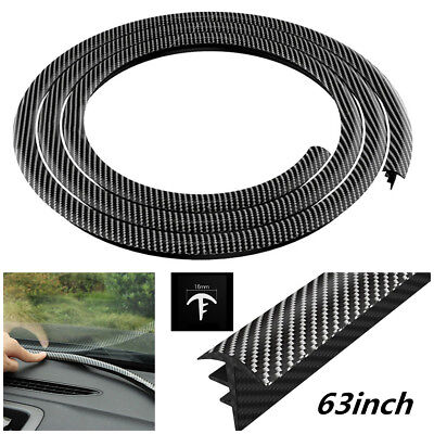 Used, Carbon Fiber Rubber 1.6m Soundproof Sealing Strip For Car Dashboard Windshield for sale  Shipping to Canada