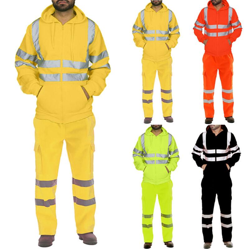 Unisex Rainsuit Waterproof Storm Jacket Trouser Set Mens Coat Workwear Security
