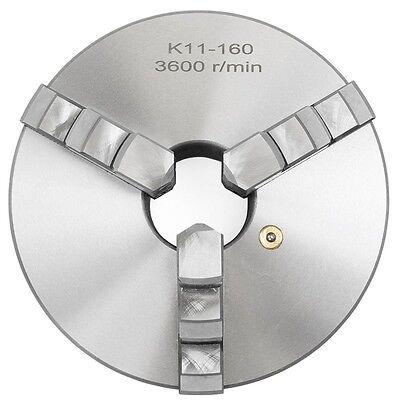K11-160 6 3 Jaw Self Centering Precision Metal Lathe Chuck Shank Arbor Adaptor