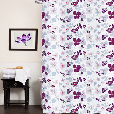 Fabric Shower Curtain 70″x72″ Joanne Multi Floral Print Polyester Bath