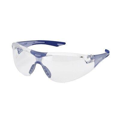Elvex Avion Safety Glasses With Clear Lens Blue Frame