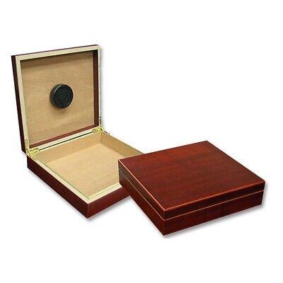 Small Humidor Humidifier Cigar Box Travel Stash Chateau Wood Case Storage