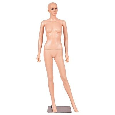 5.8ft Giantex Female Mannequin Manikin Metal Stand Plastic Full Body Wbase Us