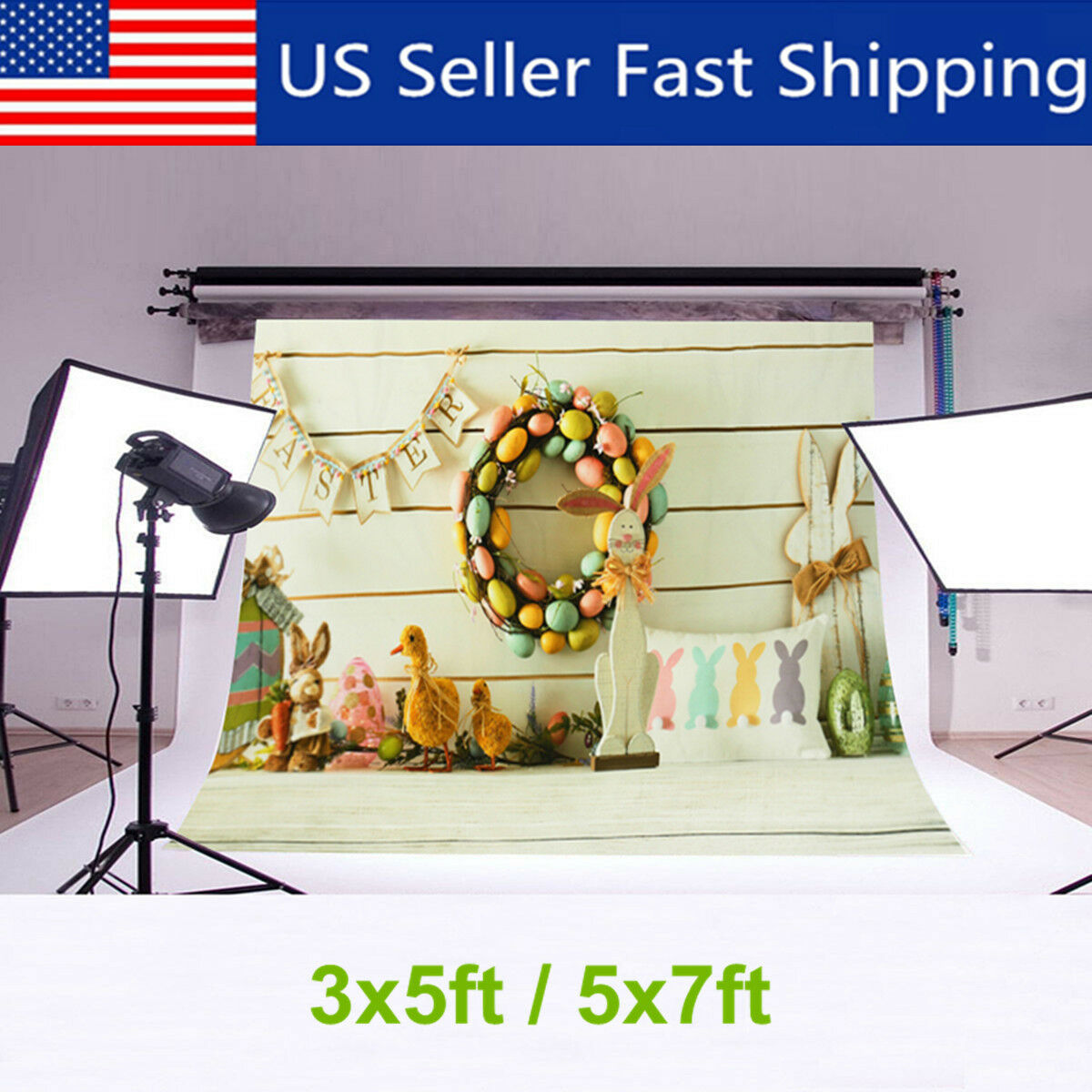 7x5ft 5x3ft Baby Easter Theme Photography Backdrop Photo Background Prop Decor !
