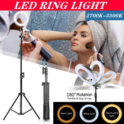 LED Ring Light W/ Tripod Stand Kit for Camera Phone Selfie Video Live Stream US
