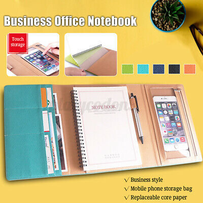 A5 Folder Loose Leaf Ring Notebook Cover Planner Binder Business School Office