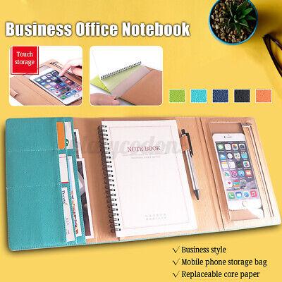 A5 Folder Loose Leaf Ring Notebook Cover Planner Binder Business School Office