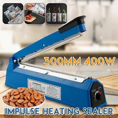 12 Impulse Heat Hand Sealer Manual Sealing Machine Plastic Poly Bag Closer Fq