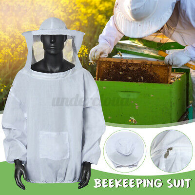 Beekeeper Smock Suit Protector Beekeeping Hat Veil Sleeve Equipment Protector