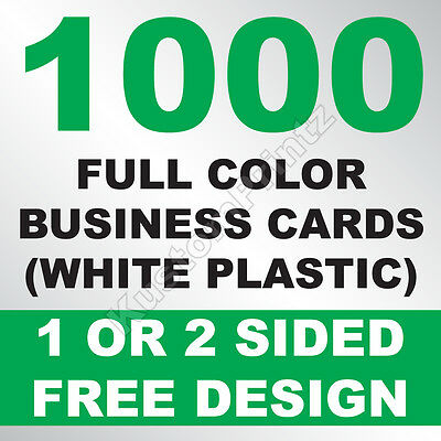 1000 CUSTOM FULL COLOR PLASTIC BUSINESS CARDS | ROUNDED CORNERS | FREE - Business Cards Rounded Corners