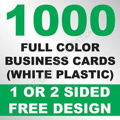 1000 CUSTOM FULL COLOR PLASTIC BUSINESS CARDS | ROUNDED CORNERS | FREE - Business Cards Rounded Corners