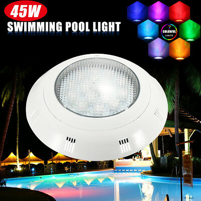 12V 45W IP6 RGB Swimming Pool Underwater Tub LED Light Wall Mounted Bulb Lamp