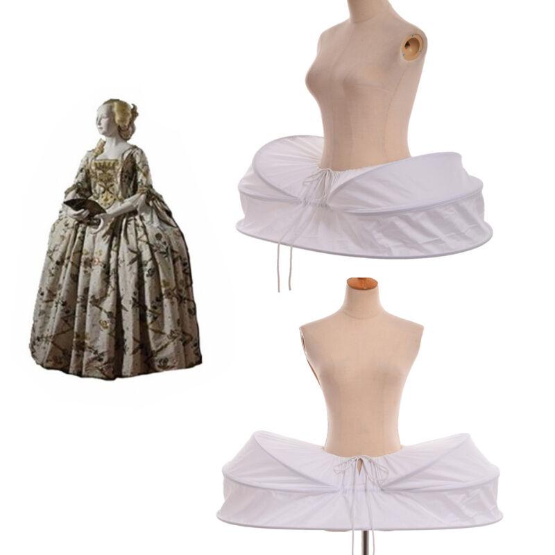 Retro Renaissance Marie Antoinette Hoopskirt Crinoline Gown Costume Pannier
