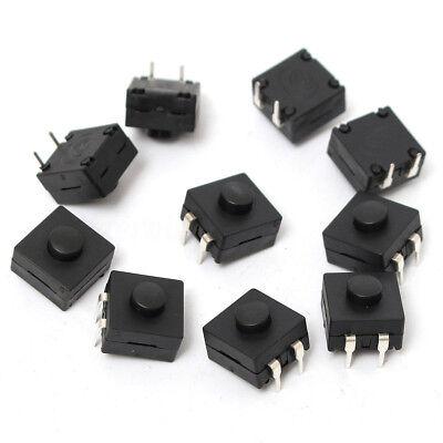 10pcs 2-pin Dip Pcb Mini Latching Tactile Tact Push Button Switch 12x12x9mm