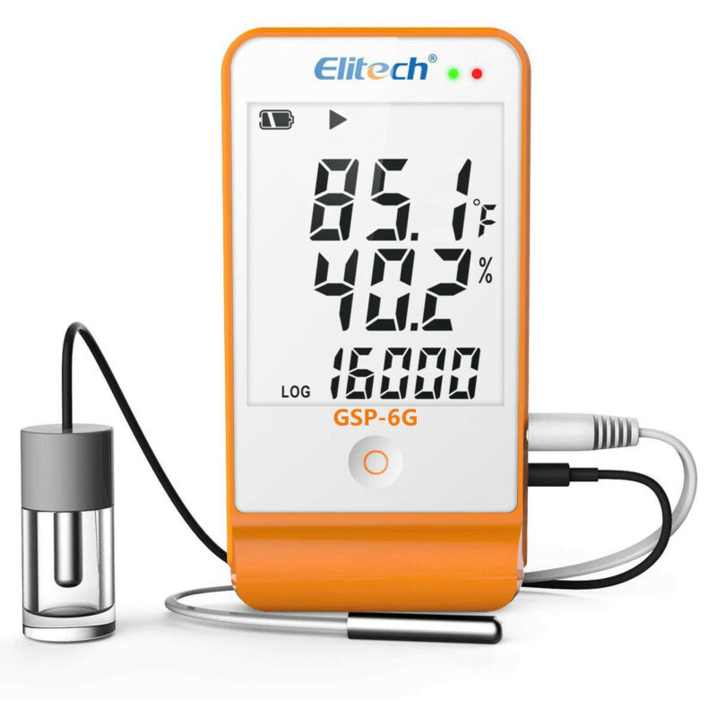 Elitech GSP-6G Vaccine Temperature Monitor Temp Recorder Humidity Data Recorder