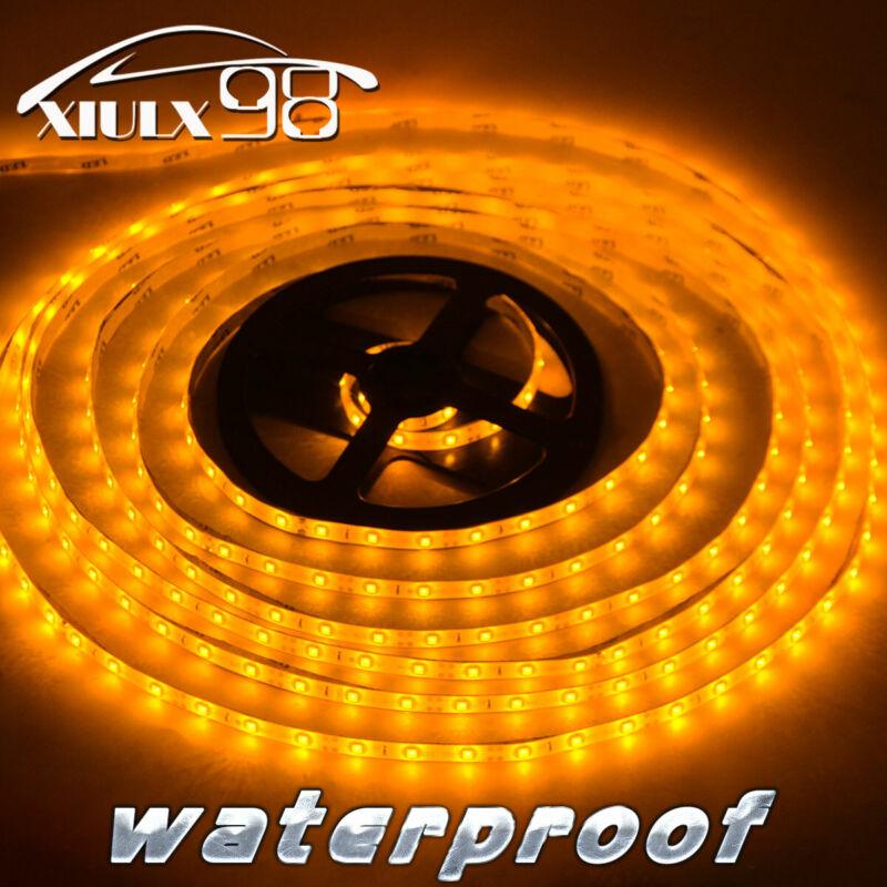 5M 3000K Yellow Waterproof SMD 3528 LED Flexible Strip Light