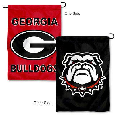 Georgia Bulldogs Double Logo Garden Flag and Yard Banner