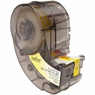 Brady Idxpert Self-lam.yellow On Black Vinyl Wirecable Labels Xsl-31-427-yl-bk