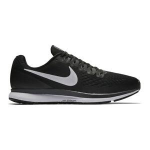 65cdcab16a7 Nike Air Zoom Pegasus 34 Black White Men Running Shoes SNEAKERS ...