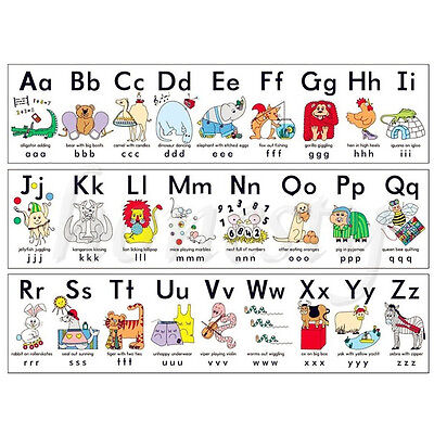 Animal ABC Alphabet Learn Children Educational Silk Cloth Poster Decor Xmas Gift - Children Christmas Clothing