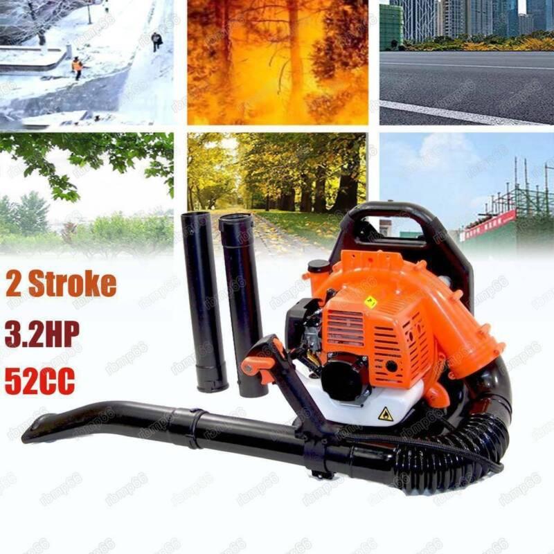 52CC 3.2HP 2Stroke Gas Backpack Leaf Blower Powered Debris P