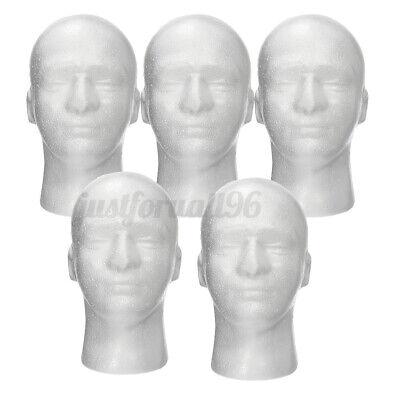 5pcs 11 Male Foam Mannequin Head Model Manikin Hat Wig Glasses Display Stand