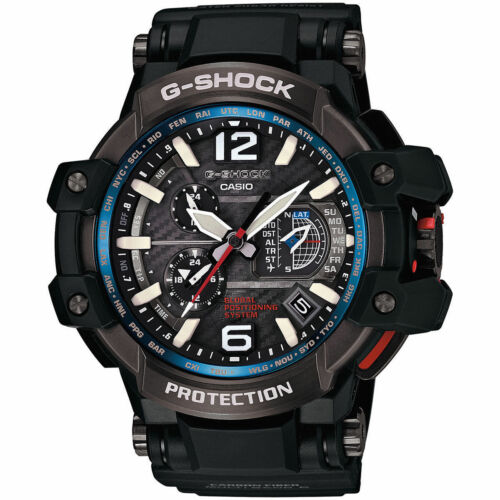 Casio G-Shock Gravity Master Hybrid GPS Black/Blue GPW-1000-