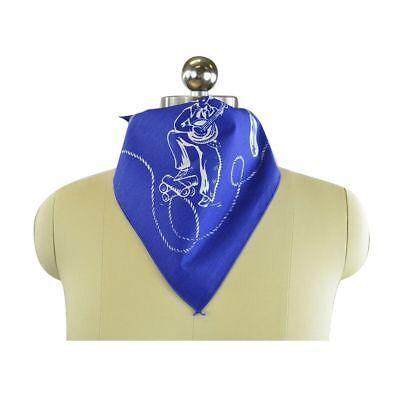 Marc Jacobs Western Theme Scarf Bandana Blue One Size 21 1/4