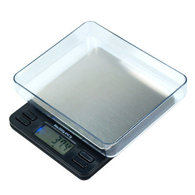 2000g x 0.1g Portable Digital Precision Scale with LargeTrays - oz g ct gn