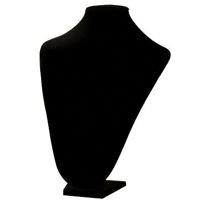 New 13 Tall Black Velvet Pendant Jewelry Neck Display Bust Form Necklace Stand